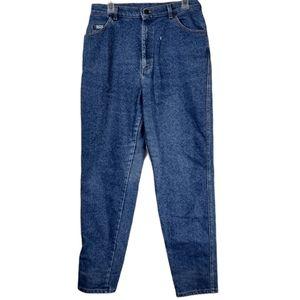 Vintage 16m Lee blue speckled acid mom jeans